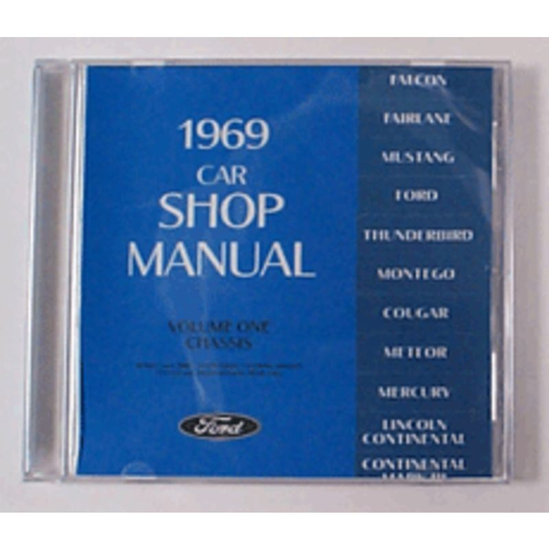 1969 mustang shop manuals cdrom shop manuals. Black Bedroom Furniture Sets. Home Design Ideas