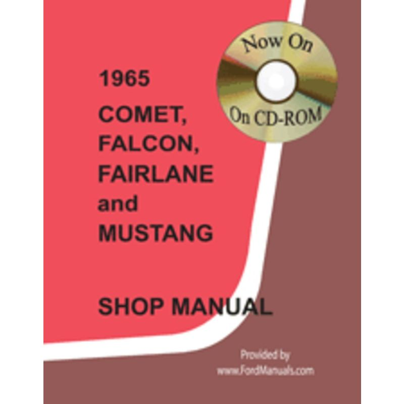 1965 mustang shop manuals  cdrom 1965 mustang service manual 1965 mustang service manual