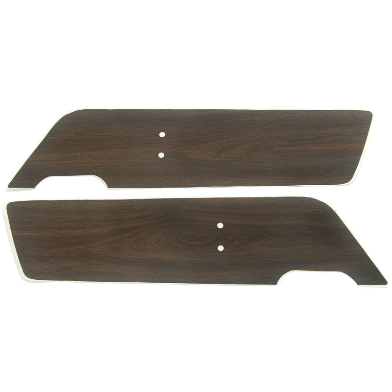 1969 1970 Mustang Deluxe Door Panel Inserts Woodgrain