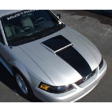 1999-2002 Mustang Solid Scoop & Blackout Decal Kit