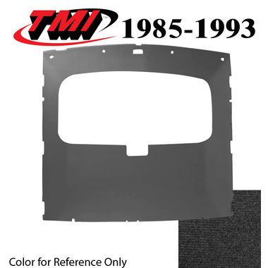 1984-1991 Mustang Cpe Sunroof Headliner Foam Back Cloth, Black