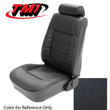1983 Mustang GLX/GT HB Low Back Seat Upholstery- Leather, Black