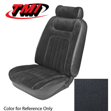 1979-1980 Mustang HB Std Low Back Seat Upholstery- Leather, Black