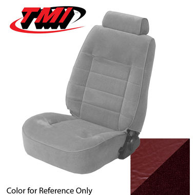 1979-1980 Mustang Ghia HB Low Back Seat Upholstery- Cloth & Vinyl, Red