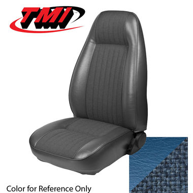 1981 Mustang Cpe High Back Seat Upholstery- Cloth & Vinyl, Wedgewood Blue