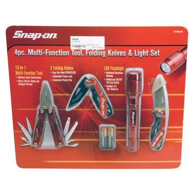Snap-On Multi-function Tool Kit, Red, 4 pcs