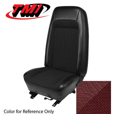 1979-1980 Mustang Cpe Std High Back Seat Upholstery- Cloth & Vinyl, Red