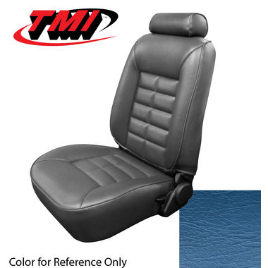 1981 Mustang HB Low Back Seat Upholstery, Vinyl, Wedgewood Blue; 1982, GL/GLX/GT, Vinyl, Wedgewood Blue