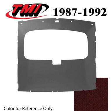 1987-1991 Mustang HB Sunroof Headliner Foam Back Cloth, Scarlet Red