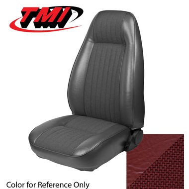 1981 Mustang Cpe High Back Seat Upholstery- Cloth & Vinyl, Medium Red
