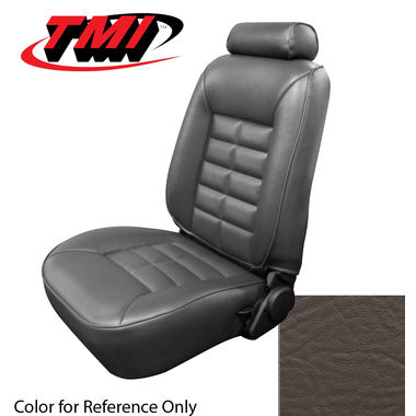 1983 Mustang GL/GLX/GT HB Low Back Seat Upholstery- Vinyl, Walnut