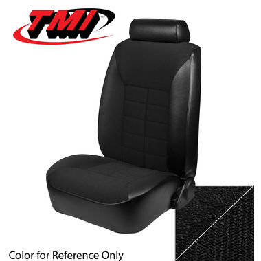 1983 Mustang GL Coupe Low Back Seat Upholstery- Cloth & Vinyl, Black