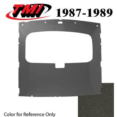 1987-1989 Mustang Cpe Sunroof Headliner Foam Back Cloth, Smoke Gray