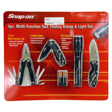 Snap-On Multi-function Tool Kit, Black, 4 pcs