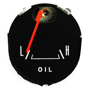 1965-1966 Mustang Oil Pressure Gauge, 65 GT & Pony