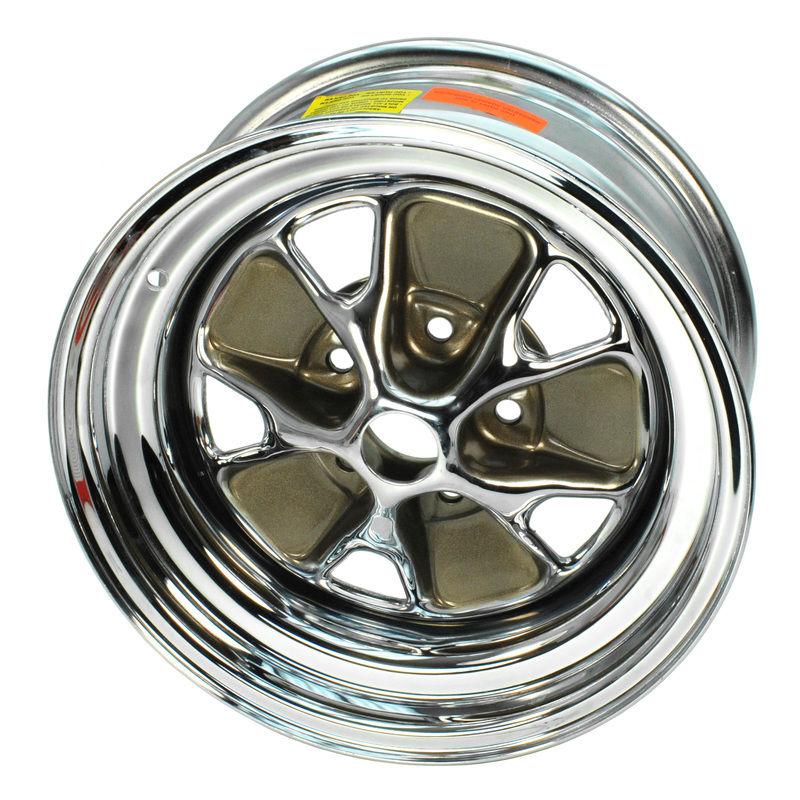 1965 1967 Mustang Styled Steel Wheel 15x7 Chrome 65 66