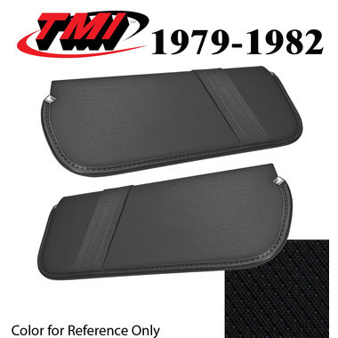 1979-1982 Mustang Cpe & HB Sunvisors, Vinyl, Black