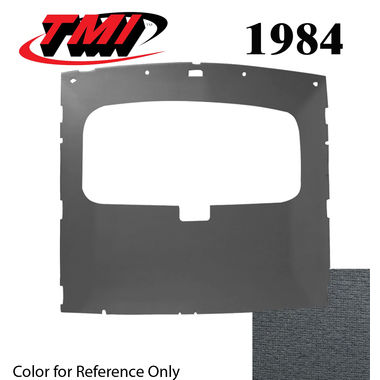 1984 Mustang Cpe Sunroof Headliner Foam Back Cloth, Academy Blue