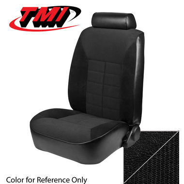 1983 Mustang GL Conv Low Back Seat Upholstery- Cloth & Vinyl, Black