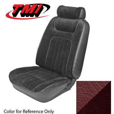 1979-1980 Mustang Ghia Cpe Low Back Seat Upholstery- Cloth & Vinyl, Red