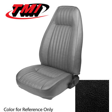 1981 Mustang HB High Back Seat Upholstery- Vinyl, Black; 1982-1983 Mustang L HB High Back Seat Upholstery- Vinyl Black
