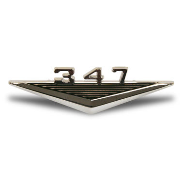 1965-1966 Mustang Fender Emblem, Engine Designation, 347