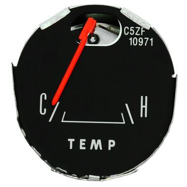 1965-1966 Mustang Temperature Gauge, 65 GT & Pony