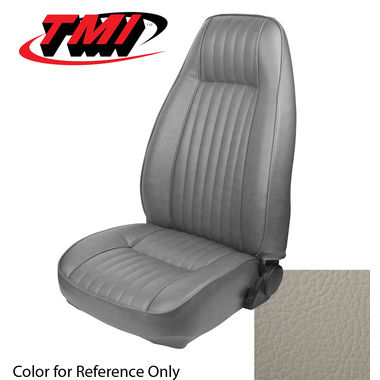 1982-1983 Mustang L HB High Back Seat Upholstery- Vinyl, Opal White