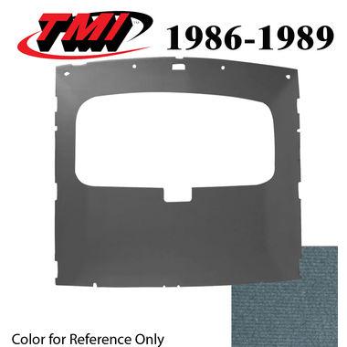 1986-1989 Mustang HB Sunroof Headliner Foam Back Cloth, Regatta Blue