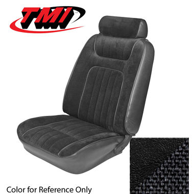 1979-1980 Mustang Cpe Std Low Back Seat Upholstery- Cloth & Vinyl, Black