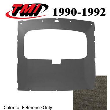 1990-1991 Mustang HB Sunroof Headliner Foam Back Cloth, Titanium Gray