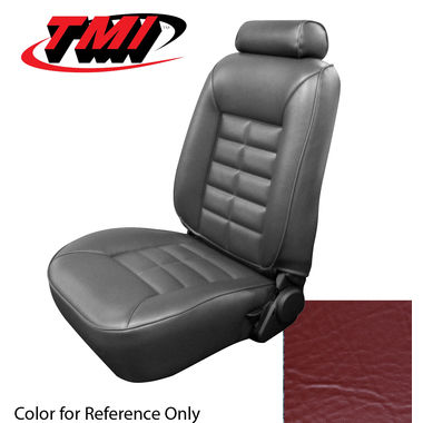 1983 Mustang GL/GLX/GT Conv Low Back Seat Upholstery- Vinyl, Medium Red