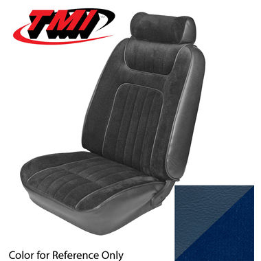1979-1980 Mustang Ghia Cpe Low Back Seat Upholstery- Cloth & Vinyl, Blue