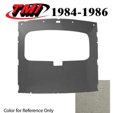 1984-1986 Mustang Cpe Sunroof Headliner Foam Back Cloth, Charcoal