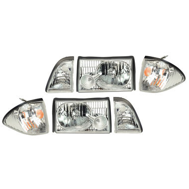 1987-1993 Mustang Headlight Kit, Ultra Clear
