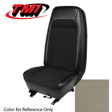 1979-1980 Mustang Cpe Std High Back Seat Upholstery- Vinyl, White