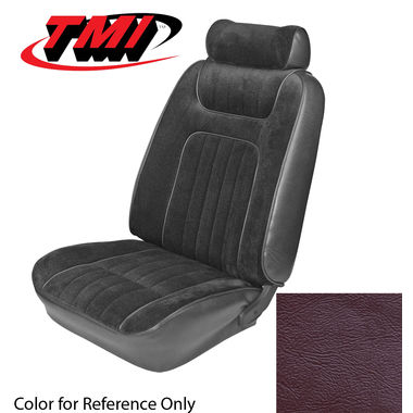 1979-1980 Mustang HB Std Low Back Seat Upholstery- Leather, Red