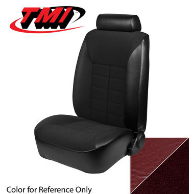 1981 Mustang Ghia HB Low Back Seat Upholstery- Cloth & Vinyl, Medium Red