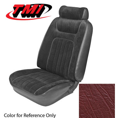 1979-1980 Mustang HB Std Low Back Seat Upholstery- Vinyl, Red