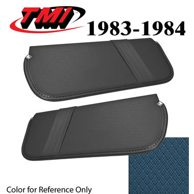 1979-1980 Mustang Cpe & HB Sunvisors, Vinyl, Blue