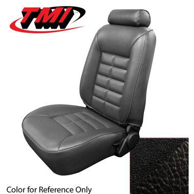 1981 Mustang HB Low Back Seat Upholstery, Vinyl, Black; 1982-1983, GL/GLX/GT, Vinyl, Black