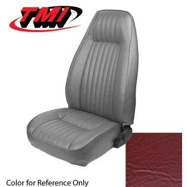 1981 Mustang Cpe High Back Seat Upholstery- Vinyl, Medium Red