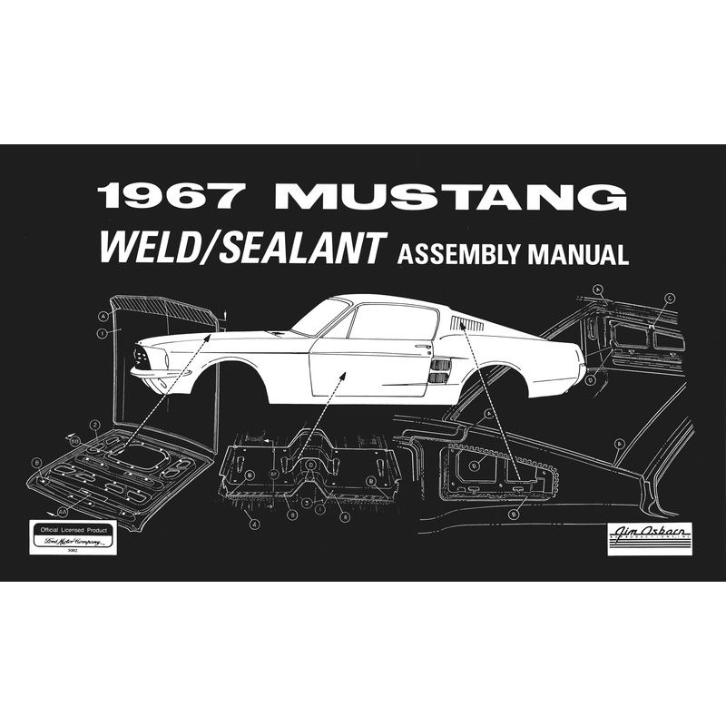 1967 Mustang Weld  Sealant Assembly Manual - Diagram Books - Literature