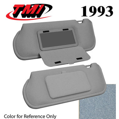 1993 Mustang Sunroof Sunvisors, Optional Cloth, w/Mirrors, Royal / Lapis Blue