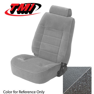 1990 Mustang Cpe Low Back Seat Upholstery, Cloth, Titanium Gray