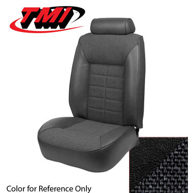 1981 Mustang Cpe Low Back Seat Upholstery, Cloth & Vinyl, Black