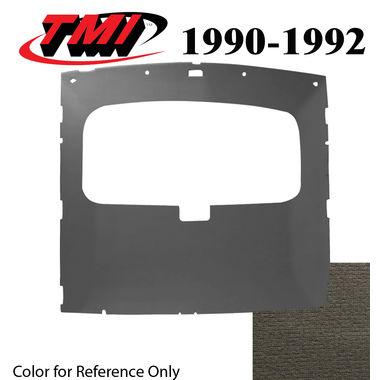 1990-1991 Mustang Cpe Sunroof Headliner Foam Back Cloth, Titanium Gray