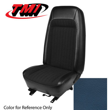 1979-1980 Mustang Cpe Std High Back Seat Upholstery- Vinyl, Blue