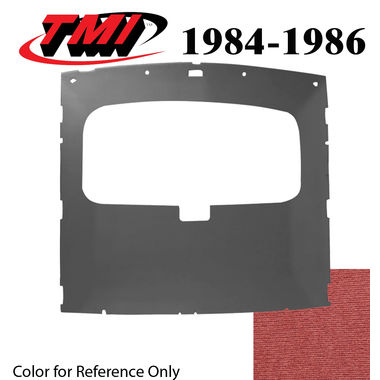 1984-1986 Mustang HB Sunroof Headliner Foam Back Cloth, Canyon Red