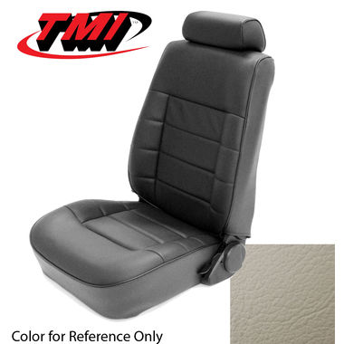 1983 Mustang GLX/GT Cpe Low Back Seat Upholstery- Leather, Opal White